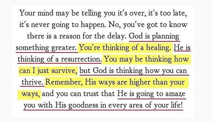 Simply stay in faith and trust Him.