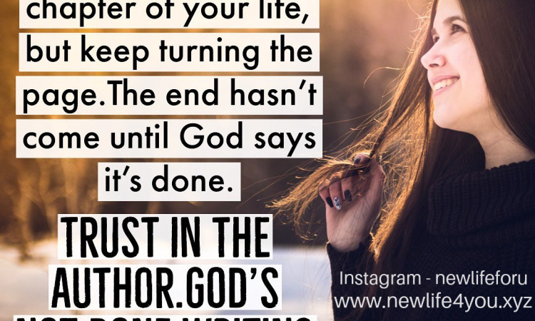 GOD'S NOT DONE WRITING YOUR STORY...