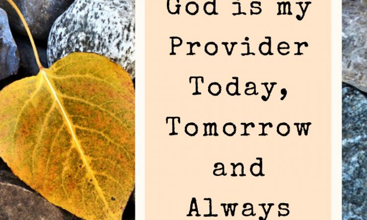 God is my Provider..
