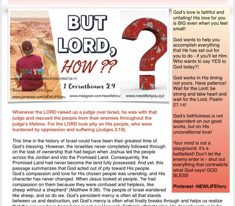 NEWLIFE4YOU WEEKLY E-MAGAZINE OCTOBER 13 ,2019